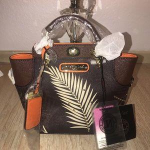 PALM TREE PRINT MINI BAG w/ FREE Surprise Gift